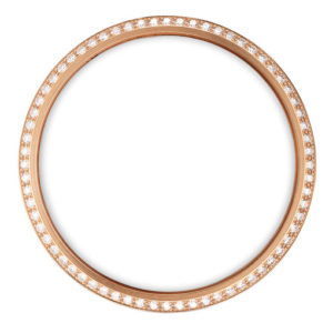 gold bezel with white diamonds