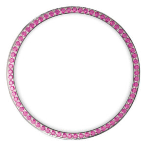 pink diamonds bezel