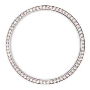 white diamonds bezel